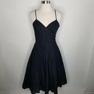 BETSEY JOHNSON NEW YORK Black Fit & Flare DRESS